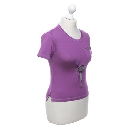 Prada T-Shirt in Violett