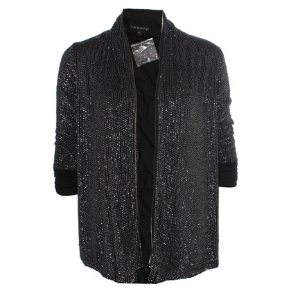 Theory black jacket with silver sequins