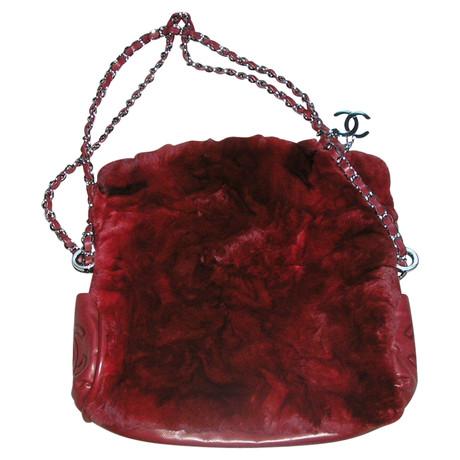 Chanel Umhängetasche mit Pelzbesatz Bordeaux Spielraum Online Offizielle Seite 31tatlMg