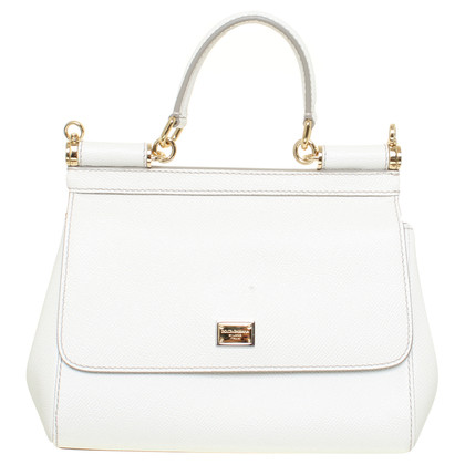 "Dolce & Gabbana ""Mini Bag Sicily Vitello Stampa"" in white"