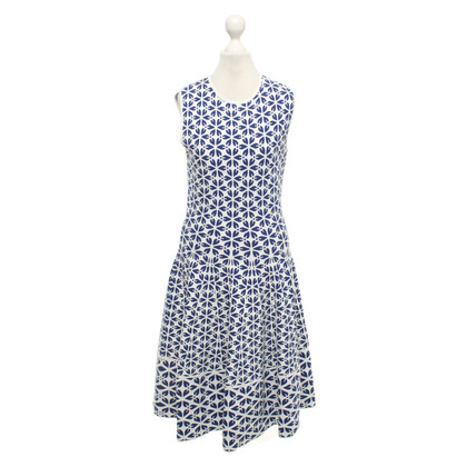 Alexander McQueen Dress in blue / white