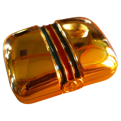 Gucci Goldfarbene Metallbox
