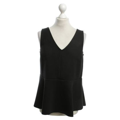 Odeeh Peplum-Top in Schwarz