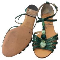 Dolce & Gabbana Sandales avec garniture de pierres précieuses