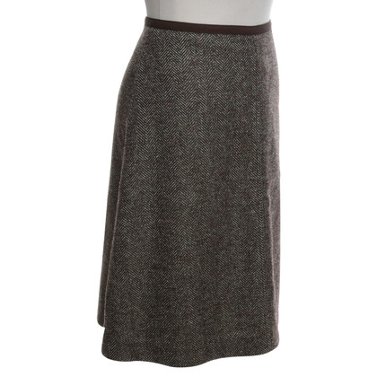 Loro Piana skirt herringbone pattern