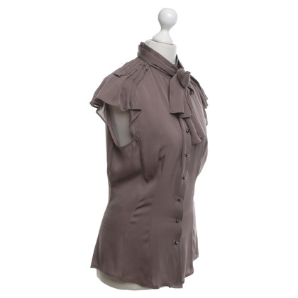 Windsor Zijden blouse in taupe