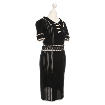 Anna Sui Crochet dress in black / white