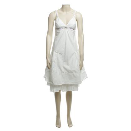 Hugo Boss Katoenen jurk in wit