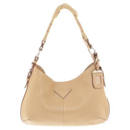 Prada Leather handbag in beige
