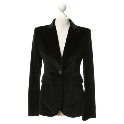 Dolce & Gabbana Blazer di velluto nero