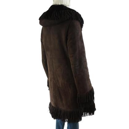 Arma manteau en cuir avec capuche