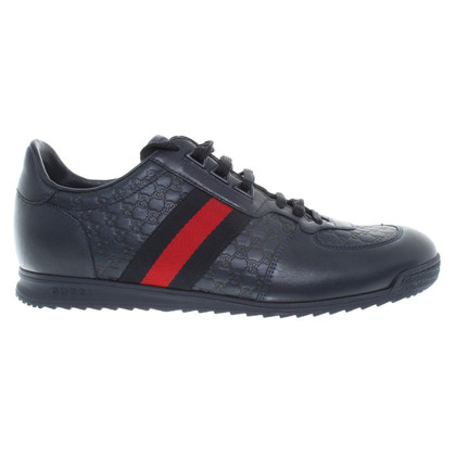 Gucci Leather sneakers in dark blue
