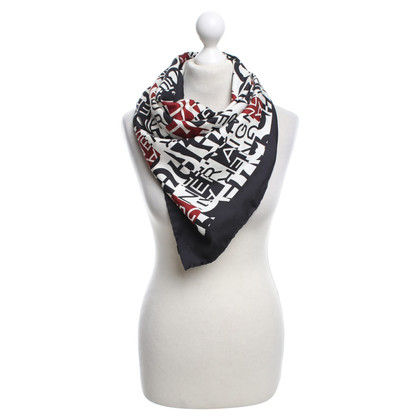 Aigner Silk scarf with logo print