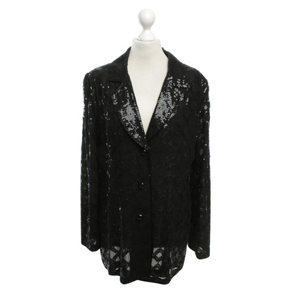 Ella Singh Sequined jacket in black