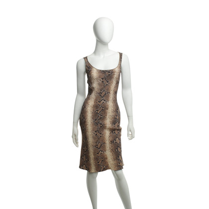 John Galliano Midikleid mit Reptilprint