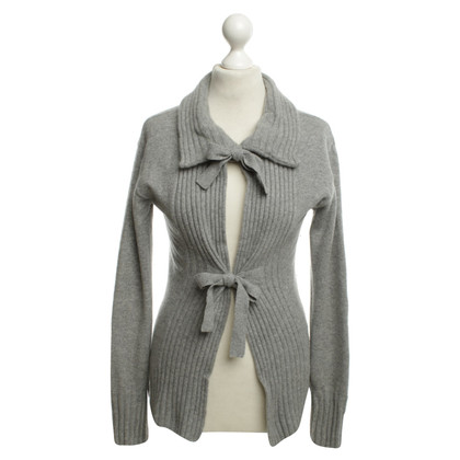 Bloom Kaschmir-Strickjacke in Grau