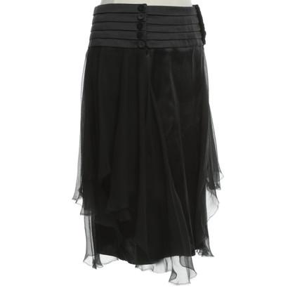 La Perla Zijden rok in zwart