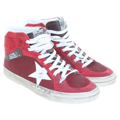 Golden Goose Red sneakers leather