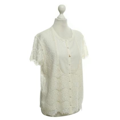 Patrizia Pepe Blusa in crema bianca