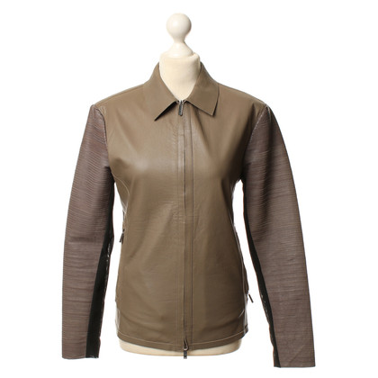 Armani Leather jacket with eye-catching sleeves