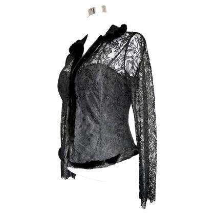 Rena Lange rivestimento del merletto con visone