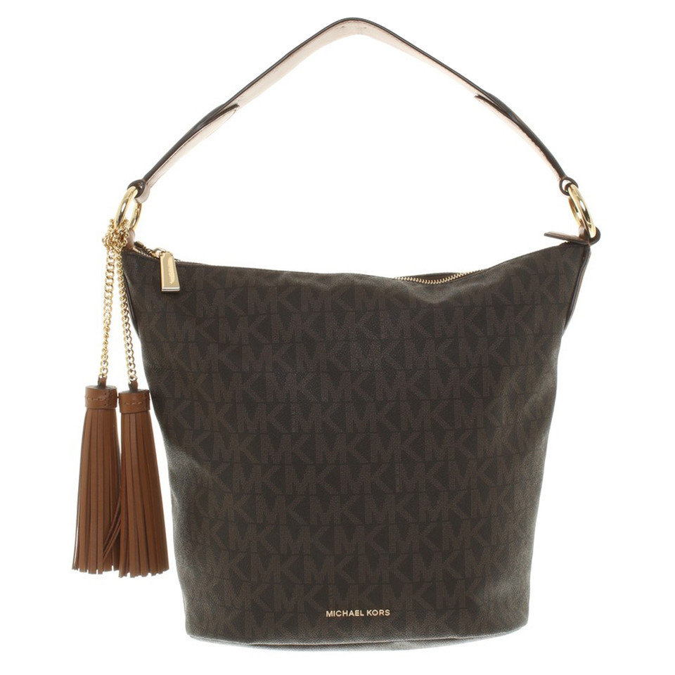 michael kors schultertasche in braun second hand michael kors schultertasche in braun. Black Bedroom Furniture Sets. Home Design Ideas