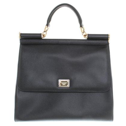 "Dolce & Gabbana ""Sicilië Bag"" in zwart"