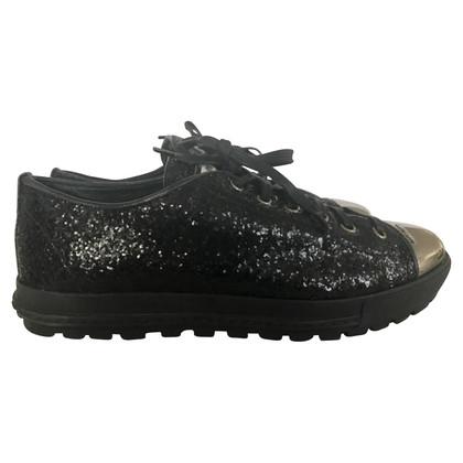 Miu Miu Sparkling Black Sneakers