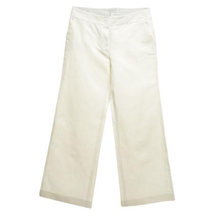 Armani Collezioni trousers in white