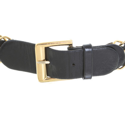 Chanel Leather belt with chain elements