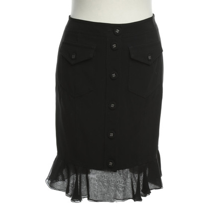 Blumarine A short skirt in black