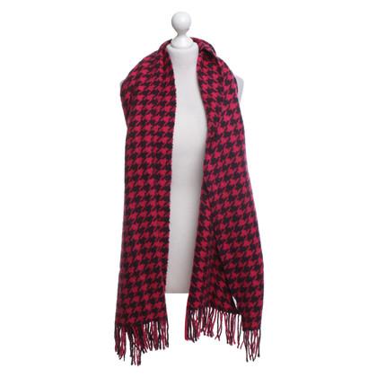 Hugo Boss Sjaal met houndstoothpatroon