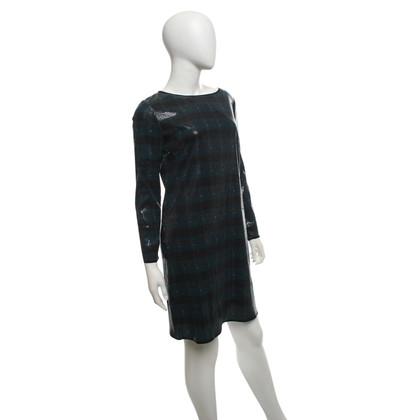 Stefanel Kariertes Kleid mit Pailletten