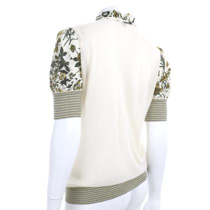 Gucci Top di seta e cashmere