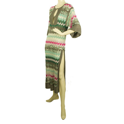 Missoni Multicolored Zig Zag calf length caftan