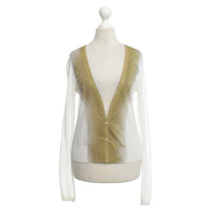 Schumacher Cardigan in white/gold