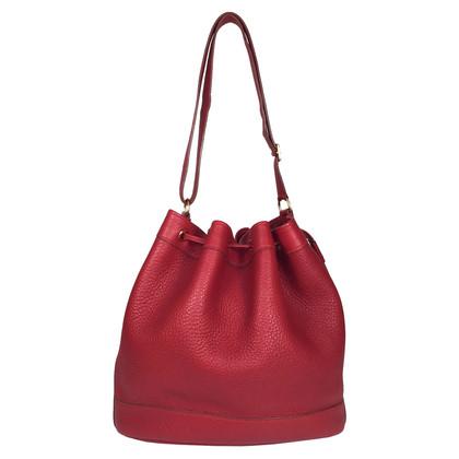 Hermès Markt 28 leder rood
