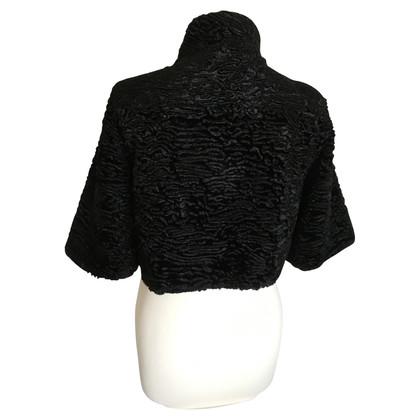 Barbara Schwarzer giacca spalla nel look Persico