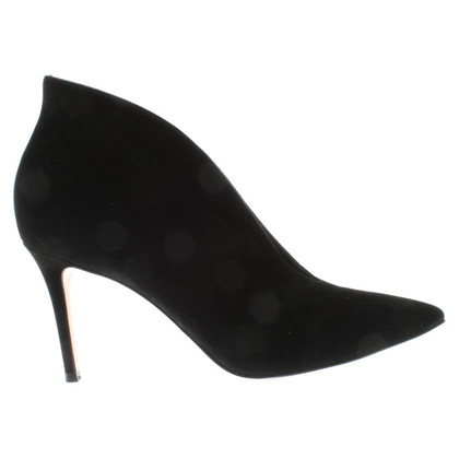Gianvito Rossi Velourslederpumps in Schwarz