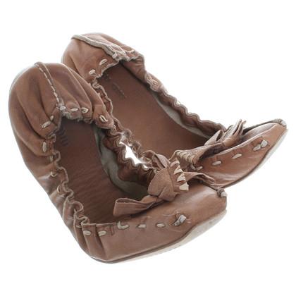 Miu Miu Ballerinas in light brown