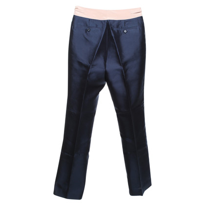 Marc Jacobs Navy blue trousers made of silk