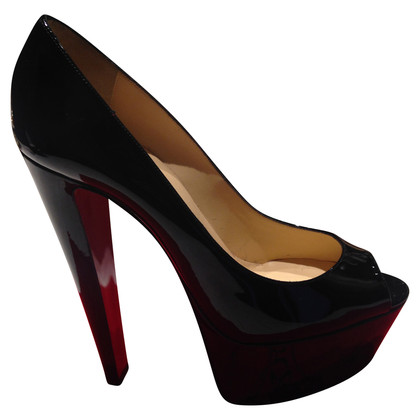 Christian Louboutin Lackleder-Peeptoes