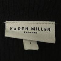 Karen Millen Strickkleid in Schwarz/Braun