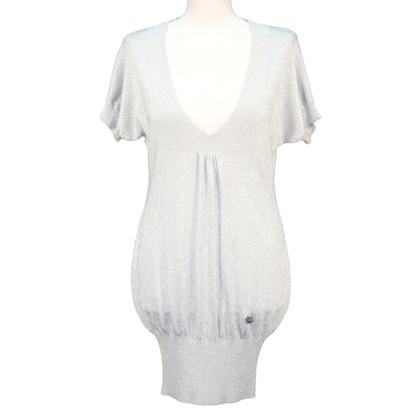 Karen Millen Gebreide jurk in zilver