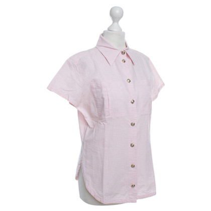 Versus Checked blouse in pink / white