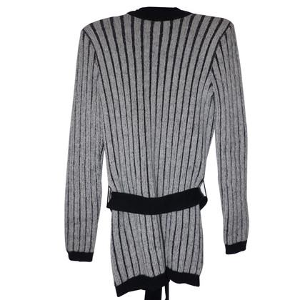 Balmain Strickjacke in Schwarz/Weiß