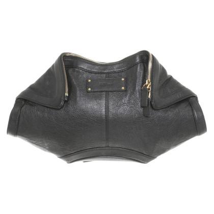 Alexander McQueen clutch in black