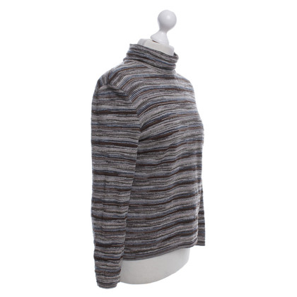Missoni Roll collar sweater with stripes