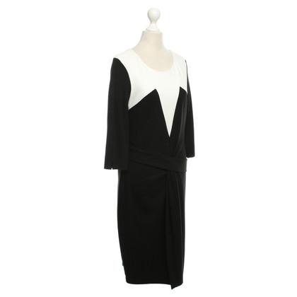 Laurèl Dress in Black / White