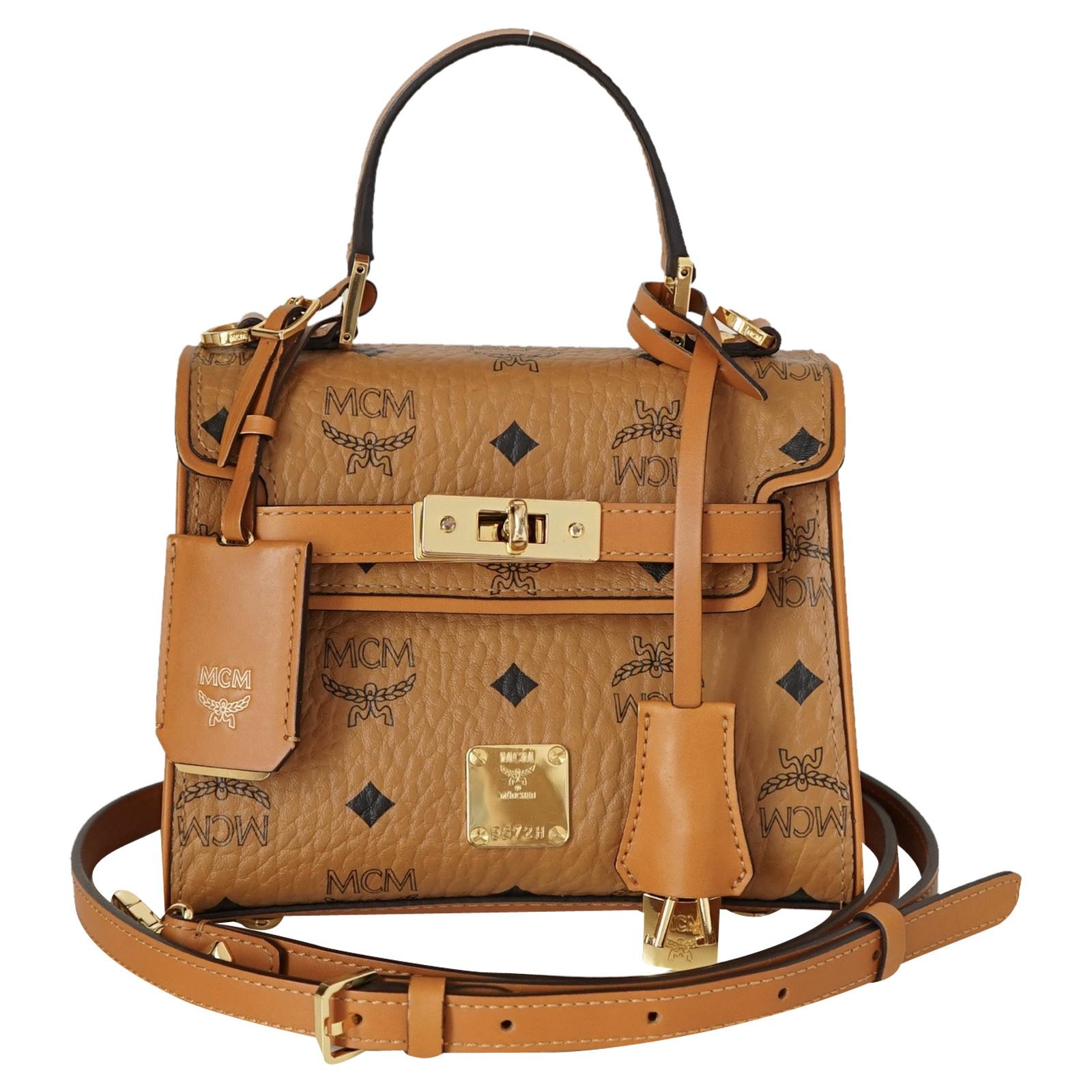 Mcm Handtasche aus Canvas Second Hand Mcm Handtasche aus